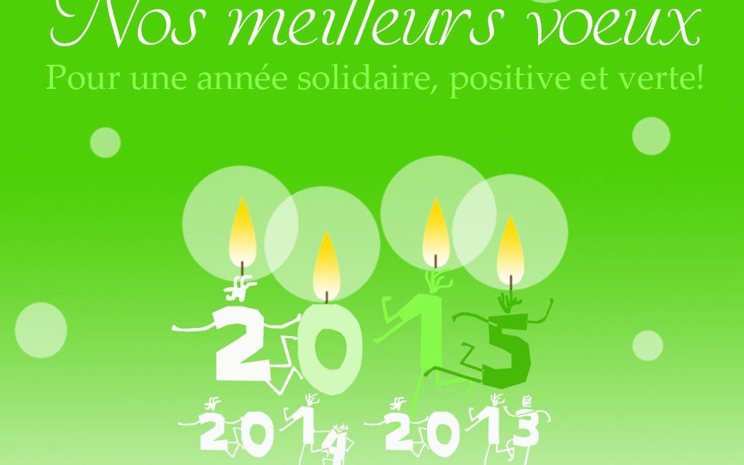 Bonne année Solidaire, Positive et Verte!